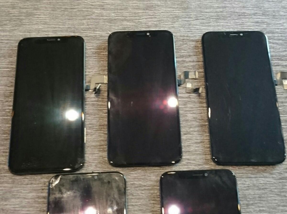 iPhoneX用有機EL(OLED)液晶パネル5枚ジャンク品まとめ売りセット iPhone X_画像3