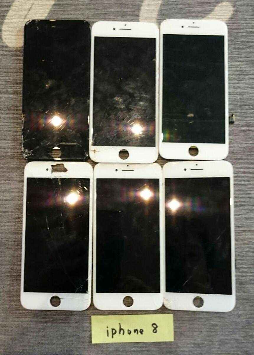 iPhone8/7Plus/7/6sPlus/6s/6Plus/6用液晶パネル113枚ジャンク品まとめ売りセット_画像2