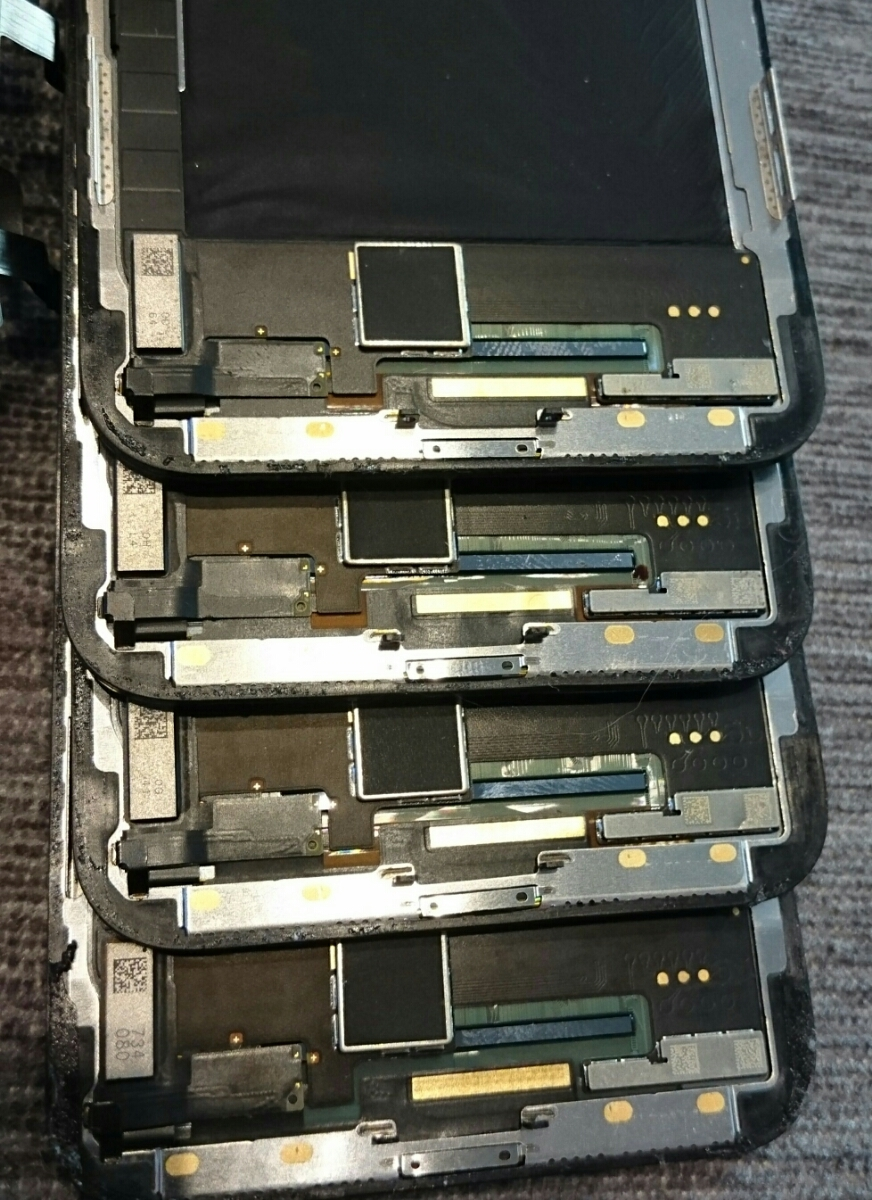 iPhoneX用有機EL(OLED)液晶パネル5枚ジャンク品まとめ売りセット iPhone X_画像5