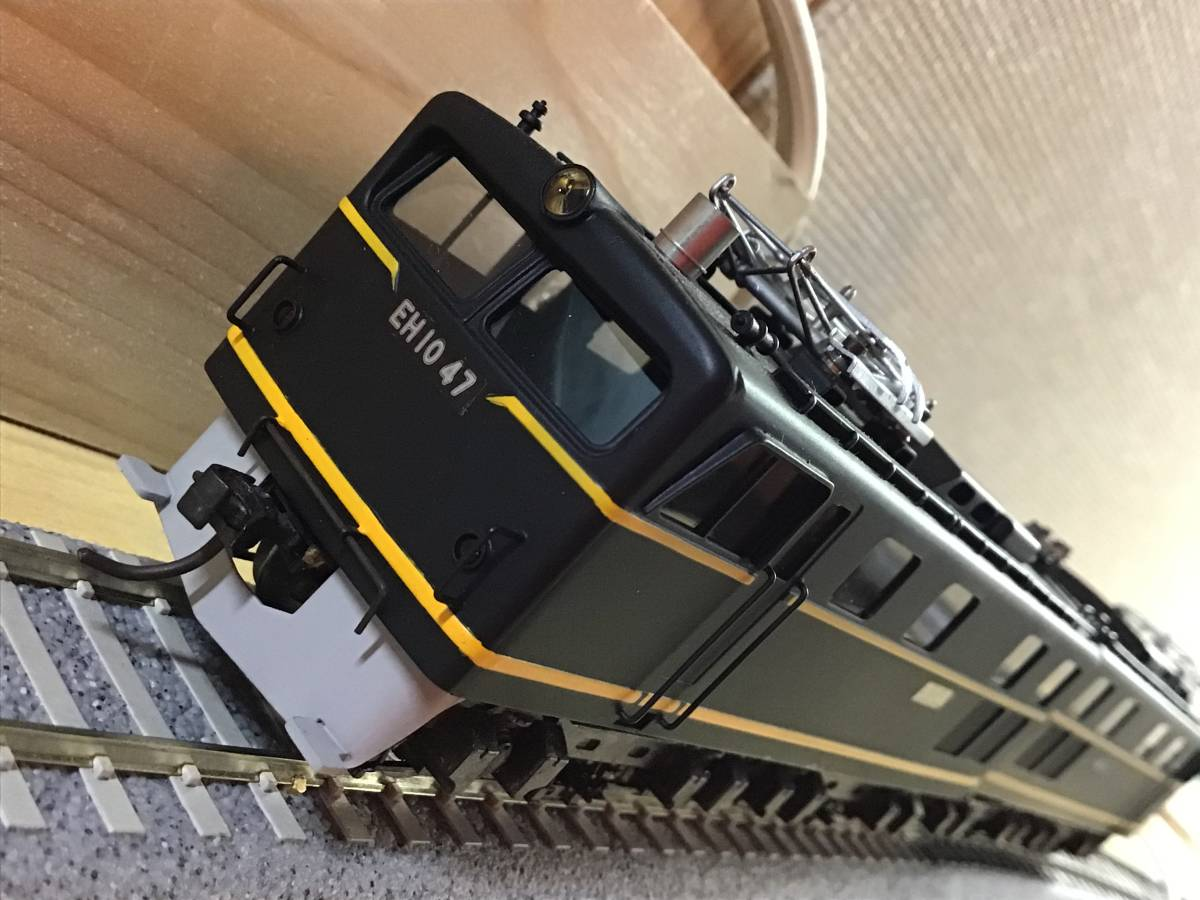 HO中古..京都模型..国鉄EH10形....車体状態まあまあ.....動作不調..2モーター動きます。前照灯点灯します。_画像5