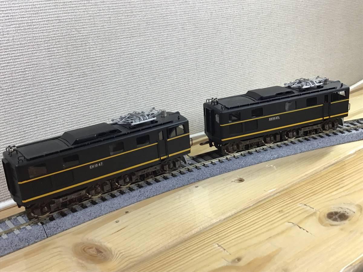HO中古..京都模型..国鉄EH10形....車体状態まあまあ.....動作不調..2モーター動きます。前照灯点灯します。_画像8