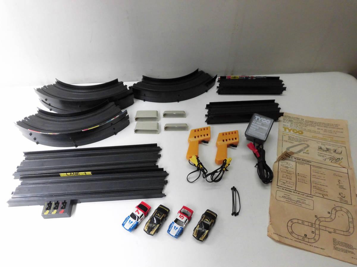 ■TYCO TR-X 4-DAR TEAM RACING スロットカー セット レトロ ビンテージ 香港製_画像2