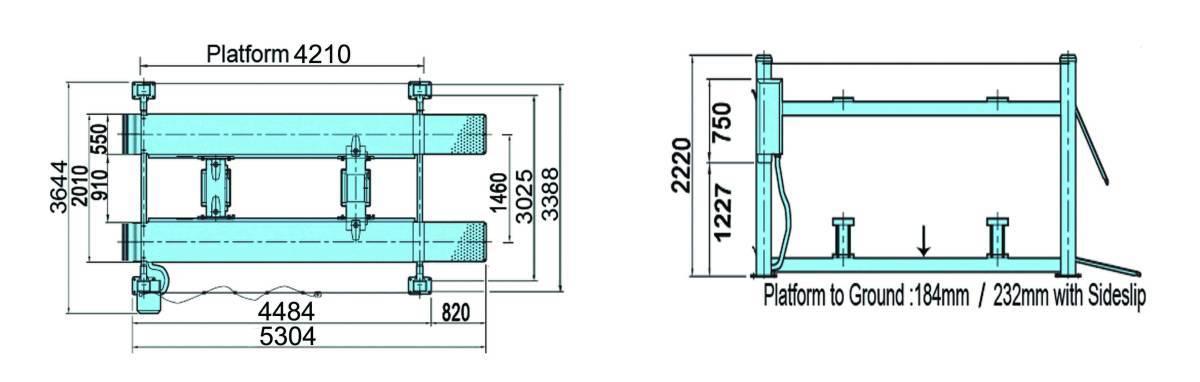 卸売リ☆新品☆4トン 4柱リフト 新型電動ロック パーキングリフトCE認証取得済み商品で安心 、 独自の落下防止装置、安全装置を装備_画像7