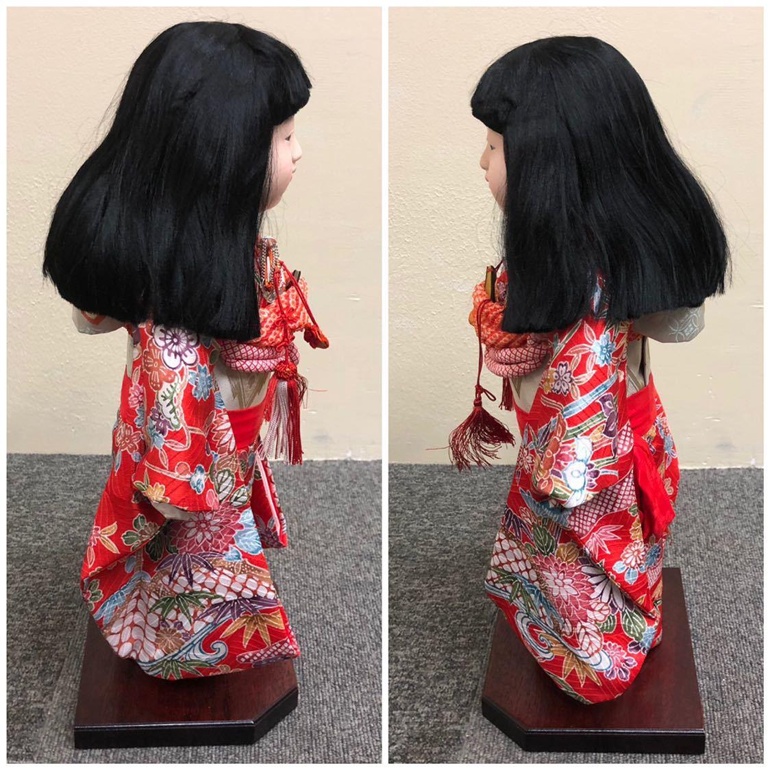 * 松寿 市松人形 日本人形 ◆ 吉徳大光 和服 日本 着物 伝統 工芸 昭和 レトロ 女の子 格安売り切りスタート_画像3
