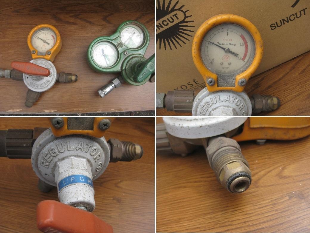 酸素・アセチレンホース約20m バーナー 火口 メーターなどまとめて 中古現状品_画像9