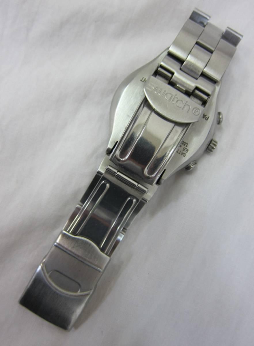 【中古・動作品/難あり】★★swatch IRONY クロノグラフ 腕時計★★SWISS MADE_画像4