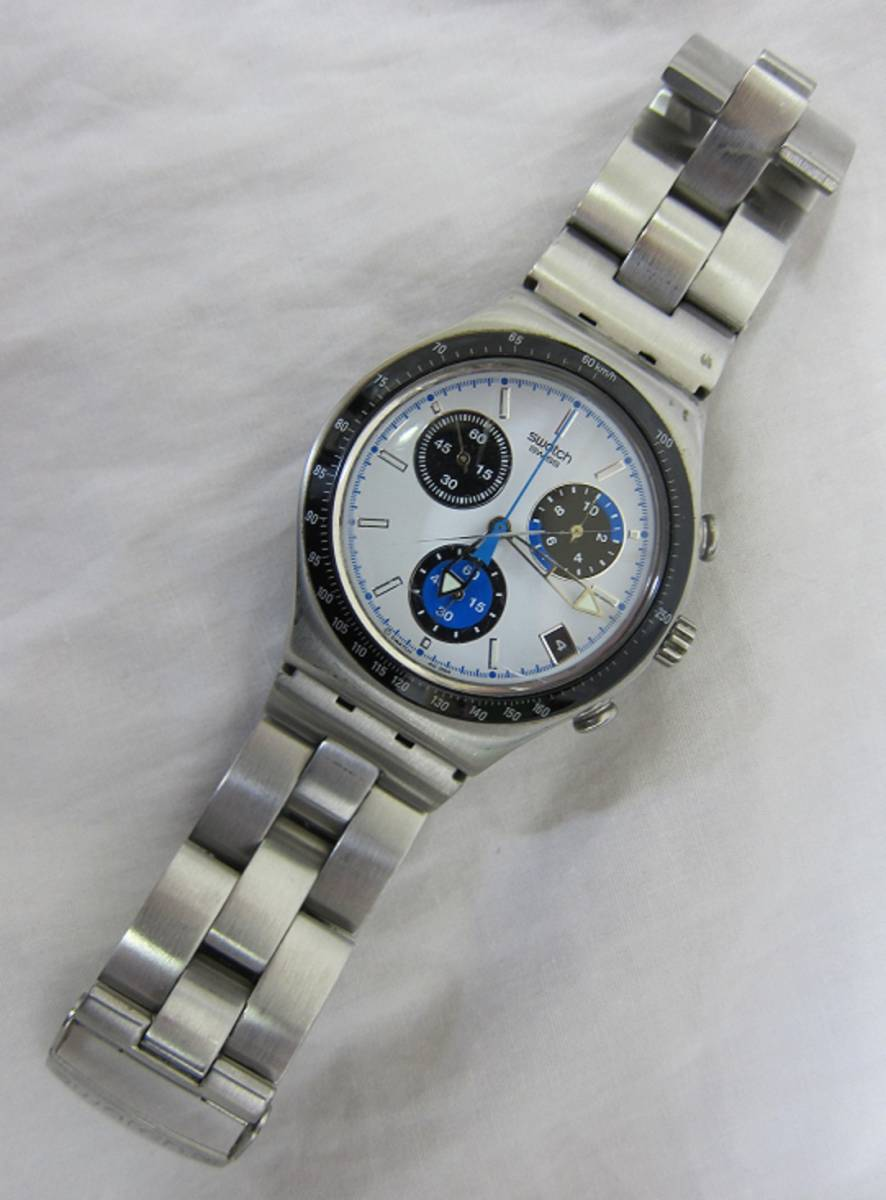 【中古・動作品/難あり】★★swatch IRONY クロノグラフ 腕時計★★SWISS MADE_画像3