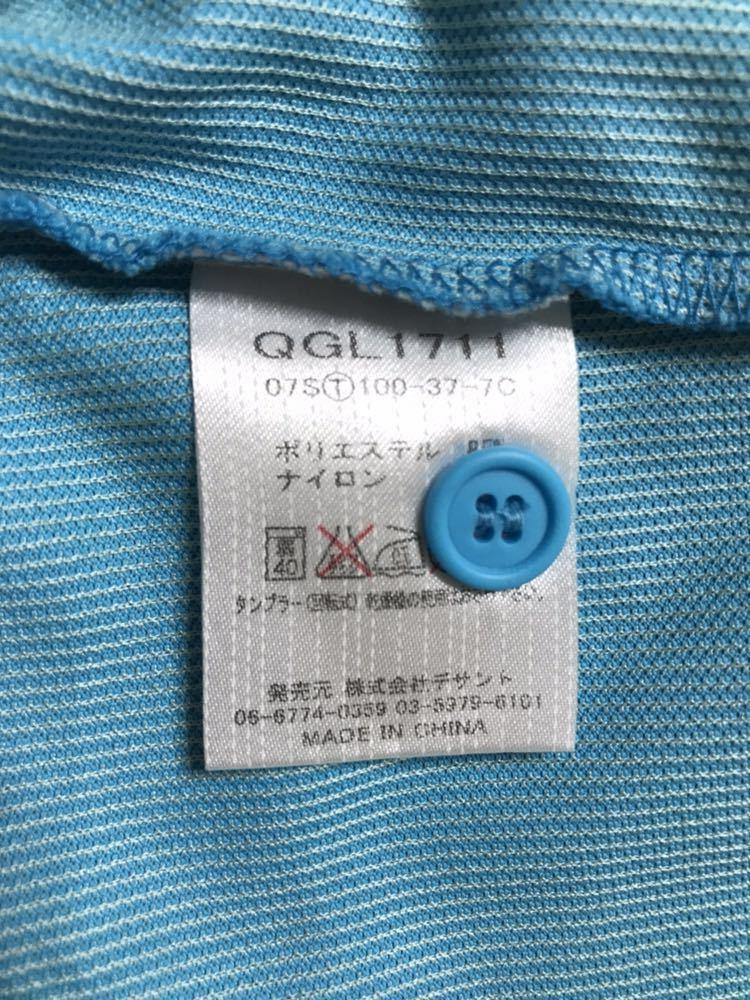 【美品】 le coq sportif GOLF COLLECTION ルコック ゴルフ レディース ウェア ドライ ポロシャツ トップス サイズXS 半袖 水色 QGL1711_画像10