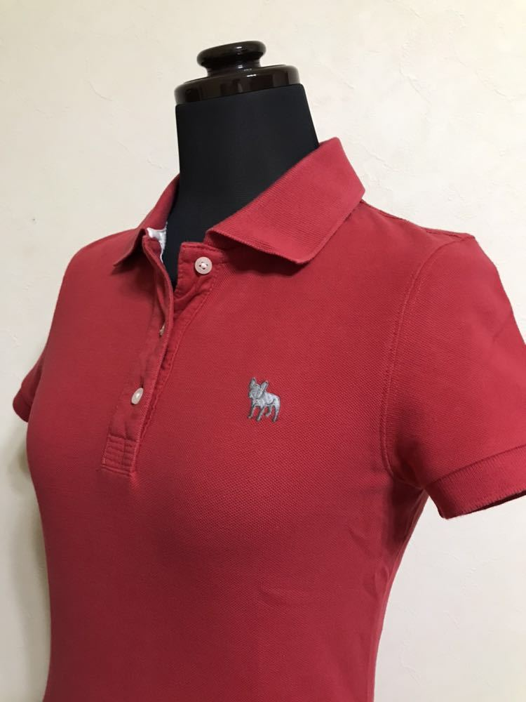 RUEHL No.925 ルールナンバー925 レディース 鹿の子 アイコン ポロシャツ サイズS 半袖 赤 フレンチブルドック_画像7