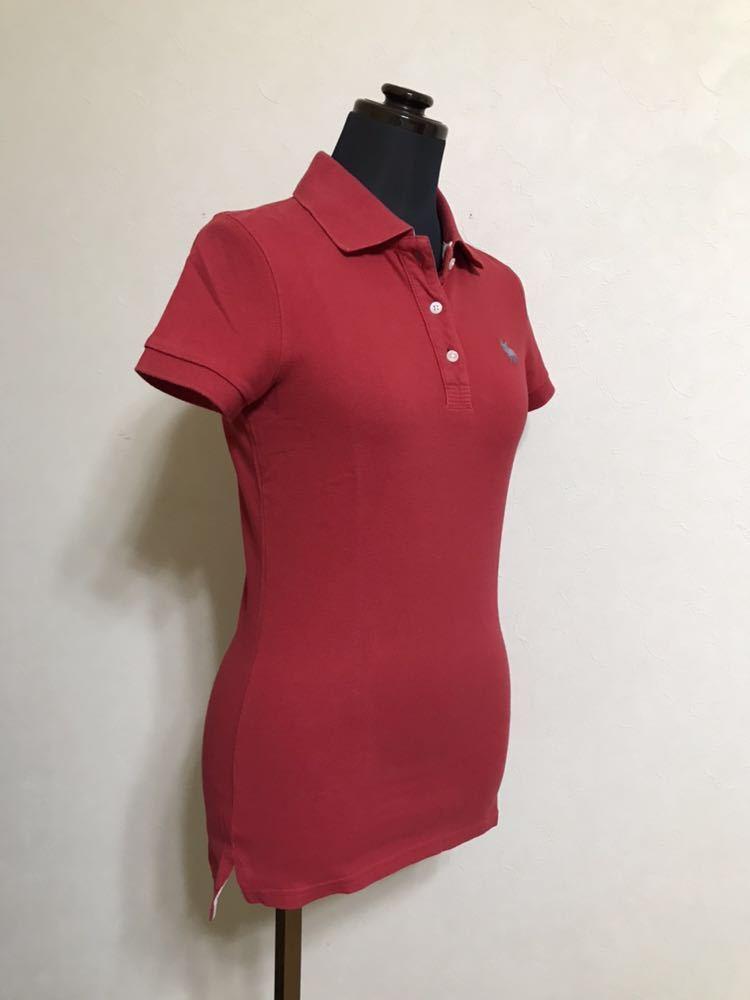 RUEHL No.925 ルールナンバー925 レディース 鹿の子 アイコン ポロシャツ サイズS 半袖 赤 フレンチブルドック_画像8