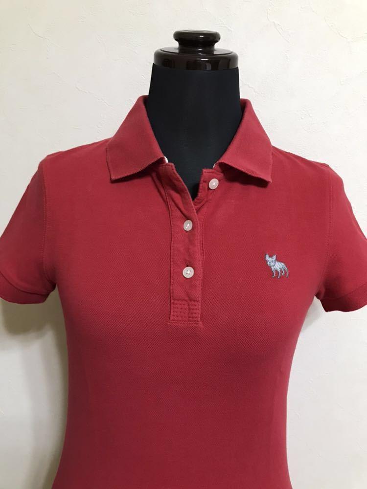 RUEHL No.925 ルールナンバー925 レディース 鹿の子 アイコン ポロシャツ サイズS 半袖 赤 フレンチブルドック_画像3
