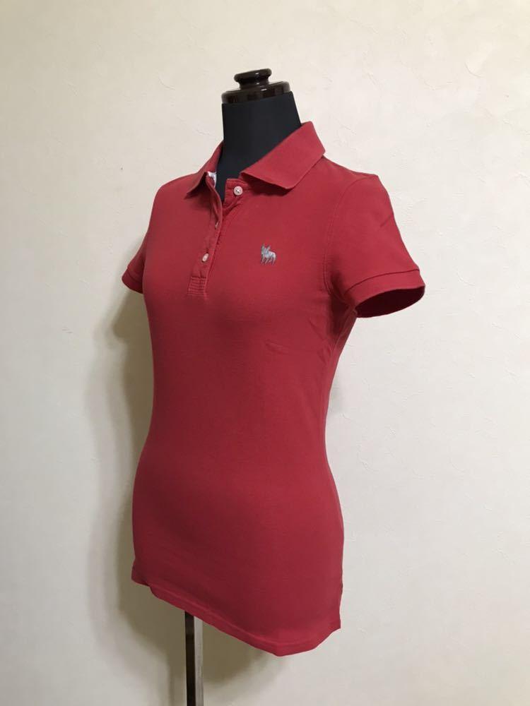 RUEHL No.925 ルールナンバー925 レディース 鹿の子 アイコン ポロシャツ サイズS 半袖 赤 フレンチブルドック_画像6