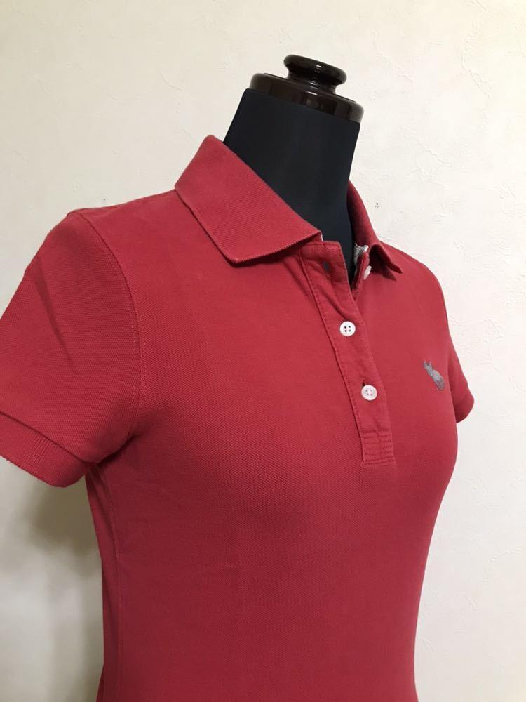 RUEHL No.925 ルールナンバー925 レディース 鹿の子 アイコン ポロシャツ サイズS 半袖 赤 フレンチブルドック_画像9