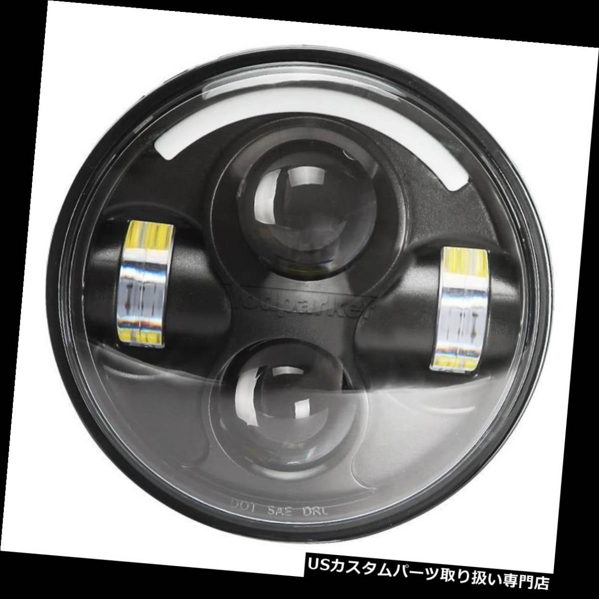 """USヘッドライト 5.75 """"LEDハイローTPプロジェクターヘッドライトハーレースポーツスターXL 1200 883 H4にフィ_画像2"""