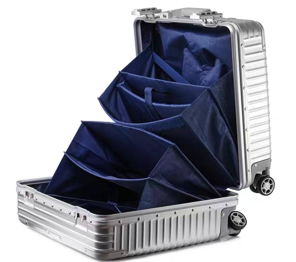 限定版 小型アルミマグネシウム合金キャリーケース 機内持ち込み可スーツケース TSAロック搭載 ビジネス トラベルバッグ 18インチ_画像4
