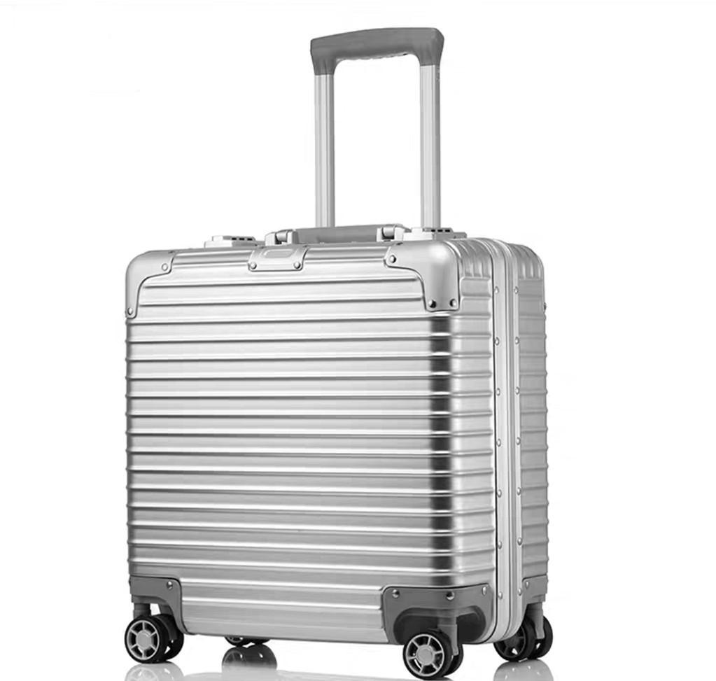 限定版 小型アルミマグネシウム合金キャリーケース 機内持ち込み可スーツケース TSAロック搭載 ビジネス トラベルバッグ 18インチ_画像2