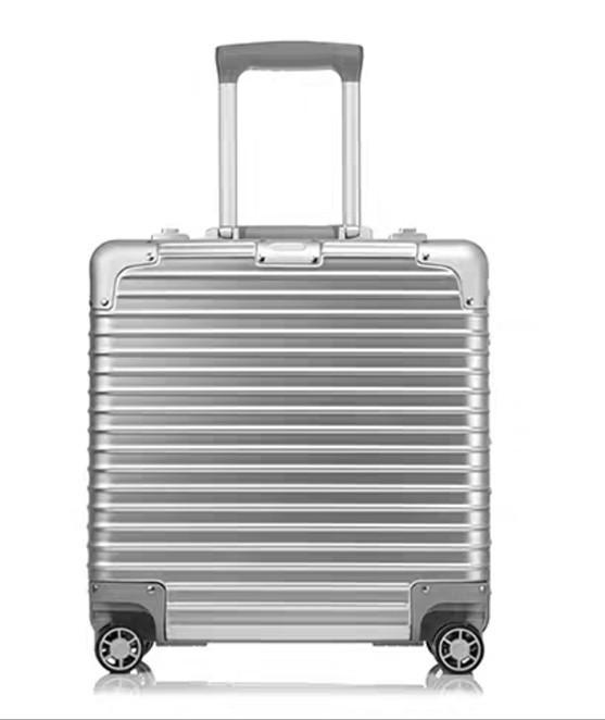 限定版 小型アルミマグネシウム合金キャリーケース 機内持ち込み可スーツケース TSAロック搭載 ビジネス トラベルバッグ 18インチ