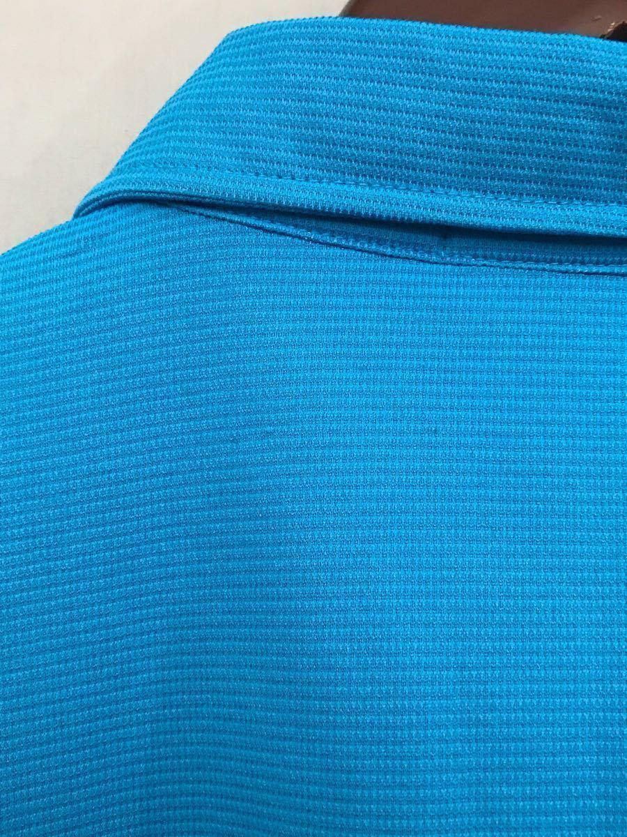 ルコック le coq sportif ルコックスポルティフ ドライポロシャツ メンズ 半袖 ゴルフウェアー LLサイズ ~◯_画像7
