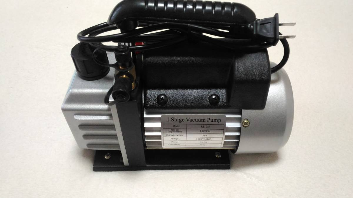 電動真空ポンプ エアコン修理 逆流防止機能 カーエアコン 自動車 真空引き 家庭用エアコン ミニポンプ オイル付属_画像4