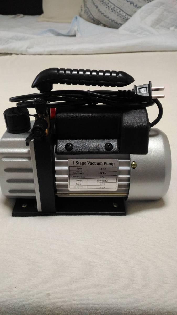 電動真空ポンプ エアコン修理 逆流防止機能 カーエアコン 自動車 真空引き 家庭用エアコン ミニポンプ オイル付属_画像3