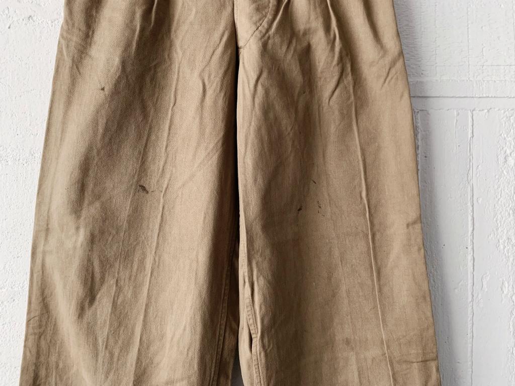 【50'sイギリス軍コットンドリルグルカパンツ】ヴィンテージ英軍アーミーフィールドパンツグルカトラウザーズカーキチノパンツ_画像5