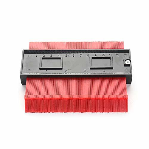 新品 型取りゲージ 赤 コンターゲージ 測定ゲージ 測定工具 目盛付き 輪郭測定器 コピーゲージ 高強度 耐久性 防錆 丈夫 ABS樹脂製 DIY_画像5