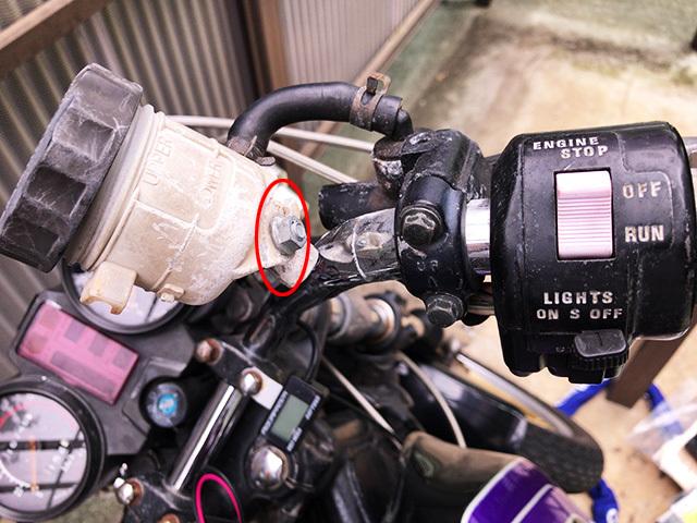 ニッシン 別体 ブレーキマスターシリンダー1/2 クラッチレバー メッシュブレーキホース GSX250E GSX400E _画像4