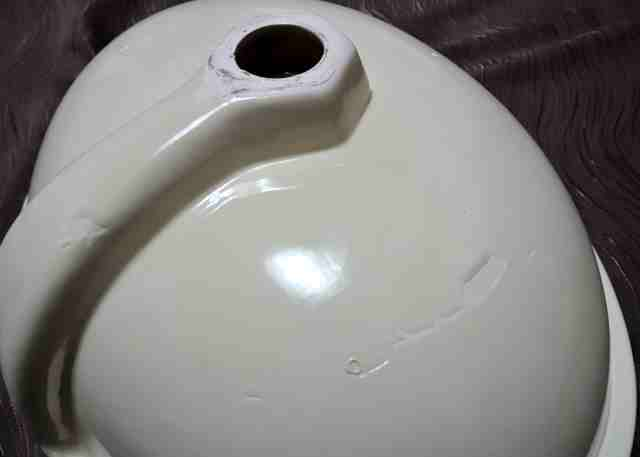★ メキシコ製ハンドペイント テラコッタ 洗面ボウル/手洗い鉢 未使用品 ★_画像8