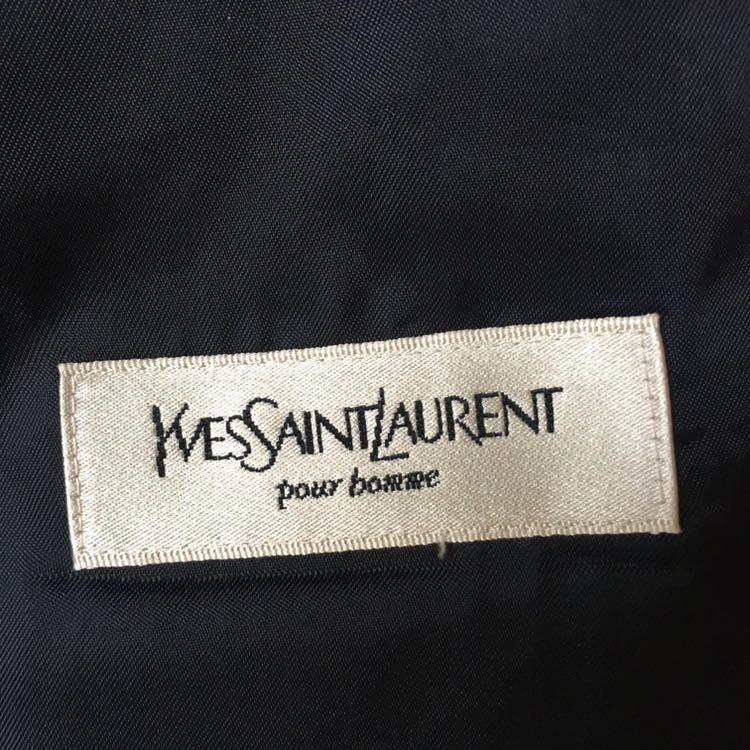 SAINT LAURENT イヴ サンローラン セットアップ スーツ ストライプ ブラック 高級 ジャケット パンツ b841_画像9