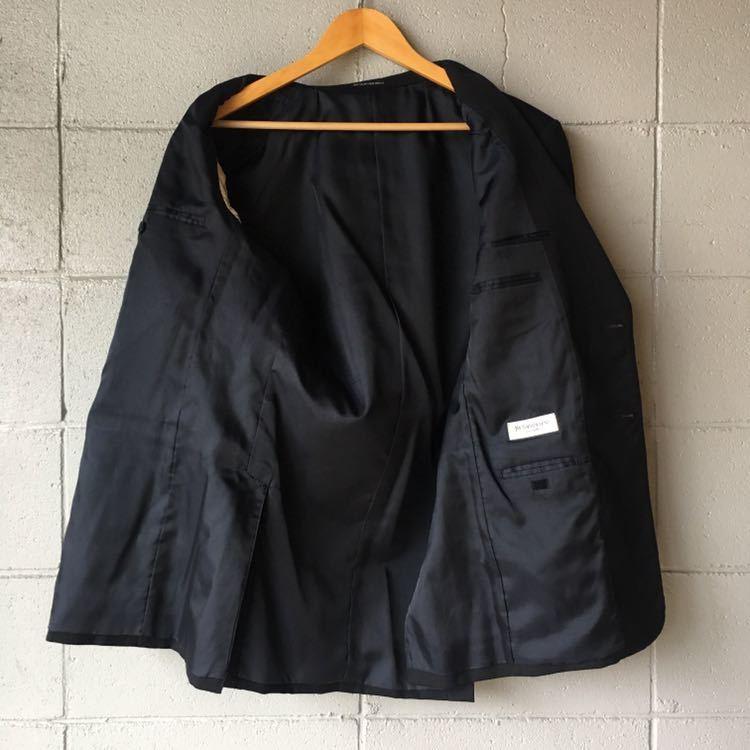 SAINT LAURENT イヴ サンローラン セットアップ スーツ ストライプ ブラック 高級 ジャケット パンツ b841_画像5