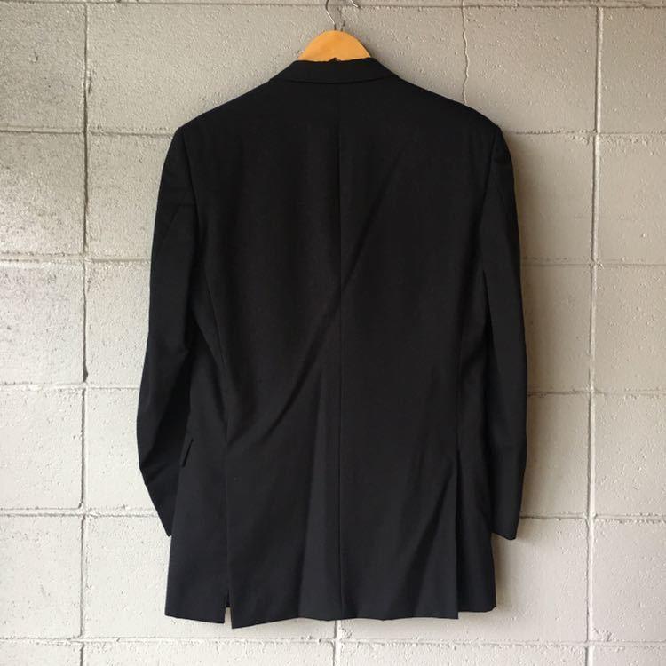 SAINT LAURENT イヴ サンローラン セットアップ スーツ ストライプ ブラック 高級 ジャケット パンツ b841_画像4