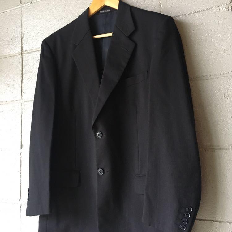 SAINT LAURENT イヴ サンローラン セットアップ スーツ ストライプ ブラック 高級 ジャケット パンツ b841_画像3