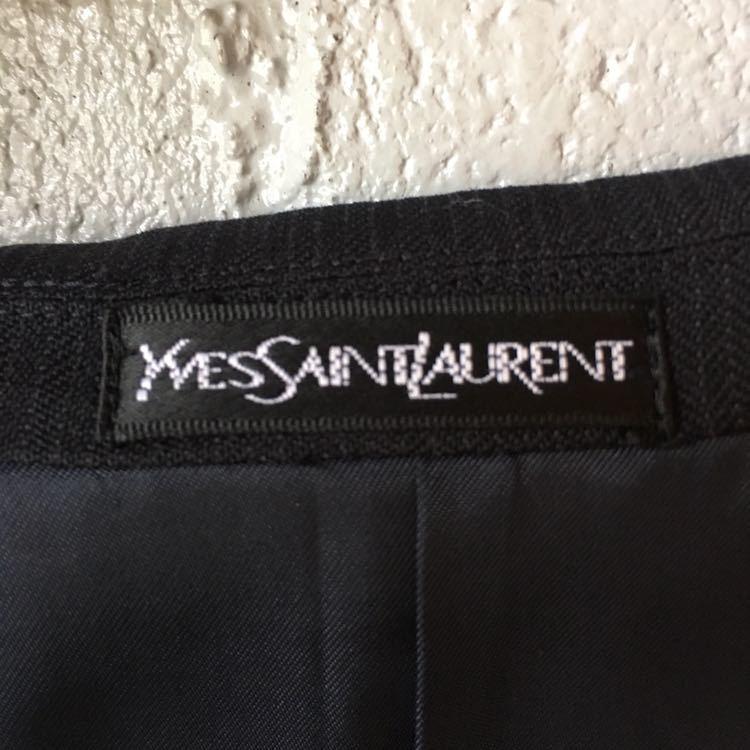 SAINT LAURENT イヴ サンローラン セットアップ スーツ ストライプ ブラック 高級 ジャケット パンツ b841_画像8