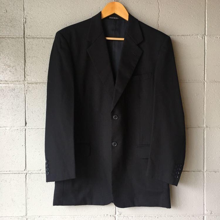 SAINT LAURENT イヴ サンローラン セットアップ スーツ ストライプ ブラック 高級 ジャケット パンツ b841_画像2