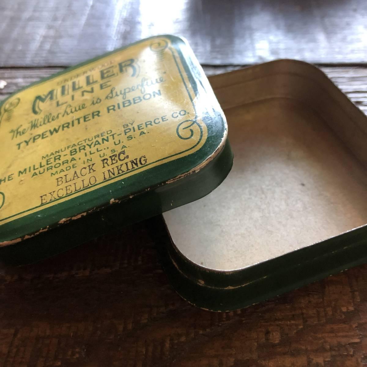 即決 ~1950s MADE IN USA タイプライターリボン ヴィンテージ缶 ケース / 小物入れ パーツ ツール アクセサリー アンティーク シャビー_画像5