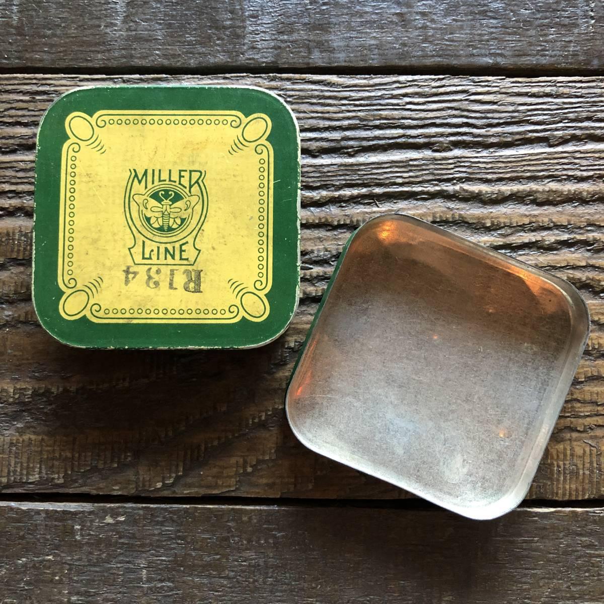即決 ~1950s MADE IN USA タイプライターリボン ヴィンテージ缶 ケース / 小物入れ パーツ ツール アクセサリー アンティーク シャビー_画像4