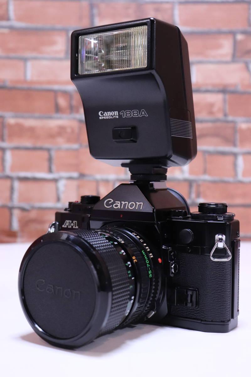 Canon A-1 フィルムカメラ キャノン レンズ・ストロボ・取扱説明書set■(R0042)_画像2
