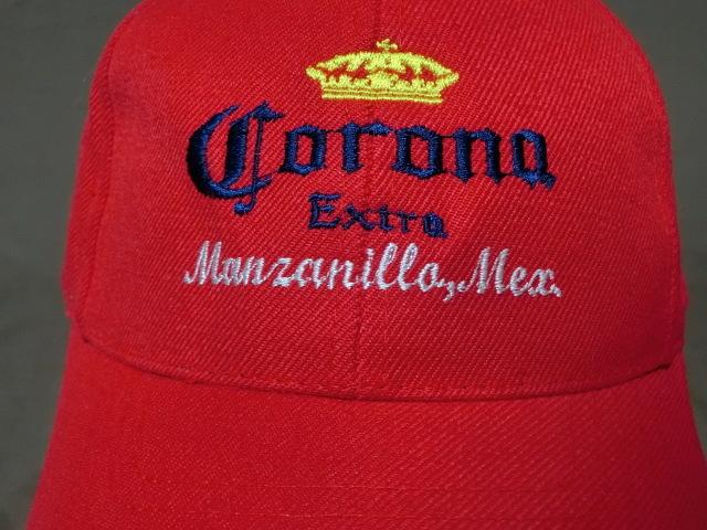 激レア USA購入 人気メキシカンビール コロナ エクストラ 【CORONA EXTRA】 ロゴ刺繍入りキャップ レッド 中古良品