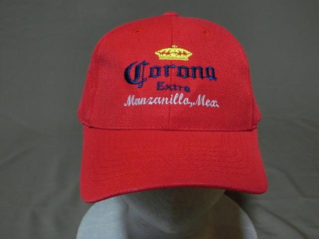 激レア USA購入 人気メキシカンビール コロナ エクストラ 【CORONA EXTRA】 ロゴ刺繍入りキャップ レッド 中古良品_画像2