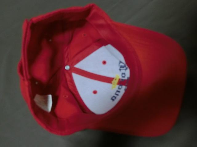 激レア USA購入 人気メキシカンビール コロナ エクストラ 【CORONA EXTRA】 ロゴ刺繍入りキャップ レッド 中古良品_画像6
