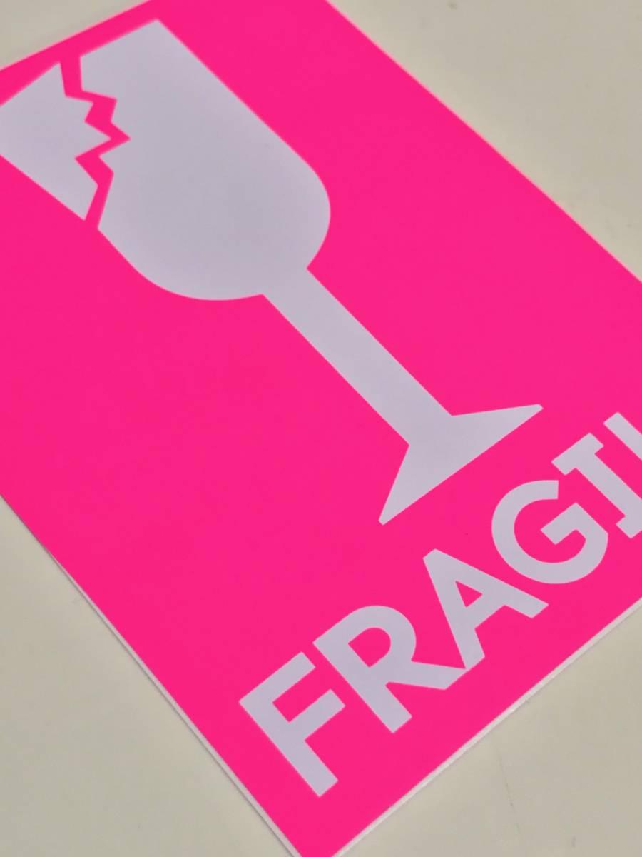 /防水 FRAGILE ステッカー こわれもの スーツケース ワレモノ 貴重品 取扱注意 フラジール 引っ越し fragile sticker 割れ物 注意 TSS-597_画像3