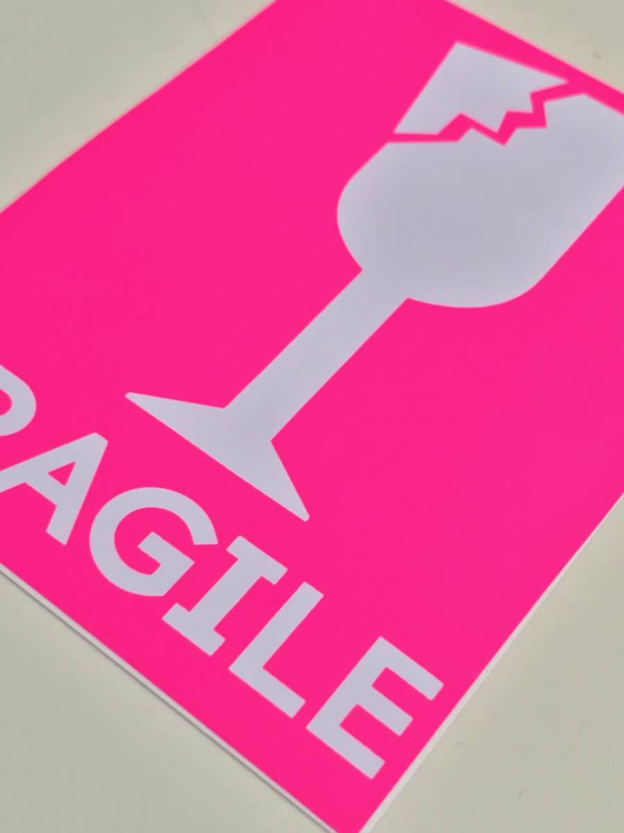 /防水 FRAGILE ステッカー こわれもの スーツケース ワレモノ 貴重品 取扱注意 フラジール 引っ越し fragile sticker 割れ物 注意 TSS-597_画像5