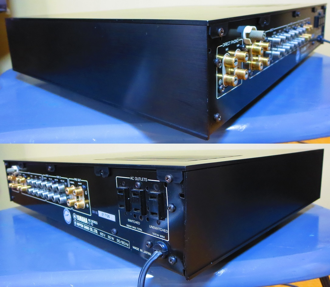 YAMAHA ヤマハ プリアンプ C-70 ,完全動作品 ♪保証あり♪ ソフトタッチ入力切り換えプシュボタン、中心周波数,周波数帯域幅,その17_画像8