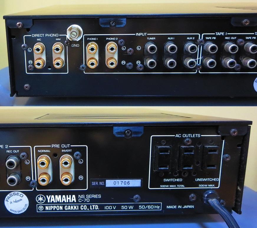 YAMAHA ヤマハ プリアンプ C-70 ,完全動作品 ♪保証あり♪ ソフトタッチ入力切り換えプシュボタン、中心周波数,周波数帯域幅,その17_画像6