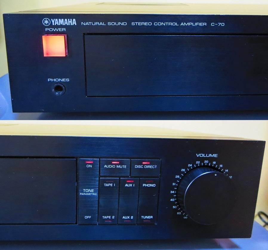 YAMAHA ヤマハ プリアンプ C-70 ,完全動作品 ♪保証あり♪ ソフトタッチ入力切り換えプシュボタン、中心周波数,周波数帯域幅,その17_画像2