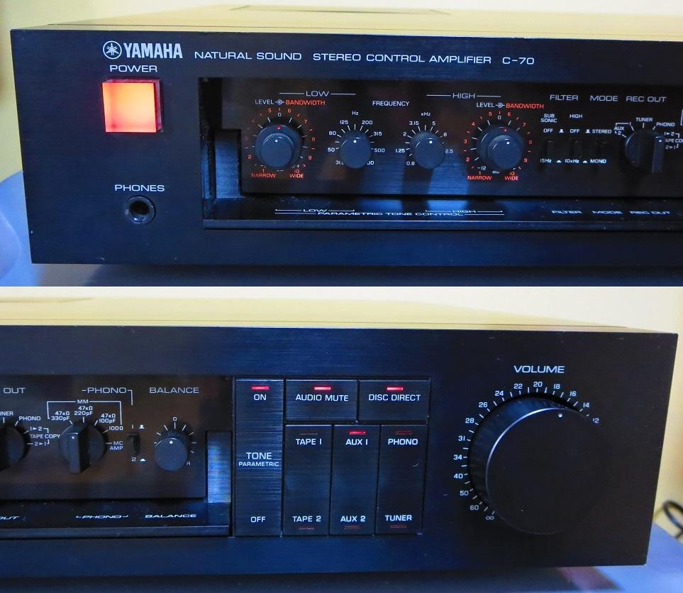 YAMAHA ヤマハ プリアンプ C-70 ,完全動作品 ♪保証あり♪ ソフトタッチ入力切り換えプシュボタン、中心周波数,周波数帯域幅,その17_画像3