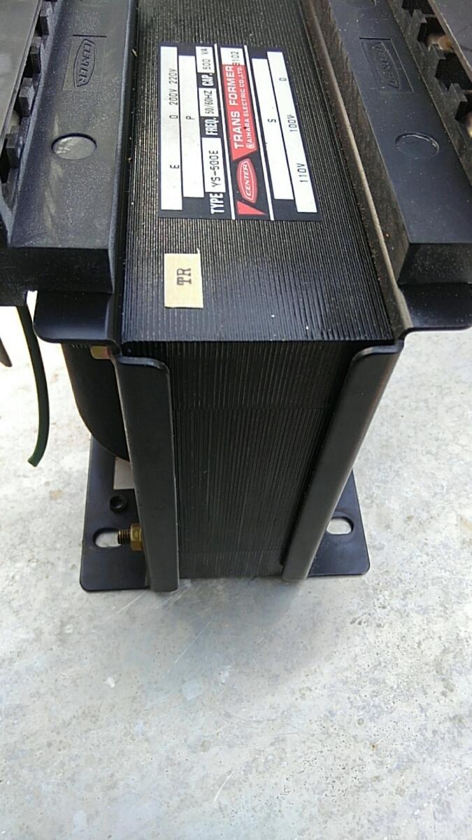 相原電気 YS-500E 容量500VA 一次200/220V二次100/110V ダウントランス 降圧器 検索用 絶縁トランス _画像5