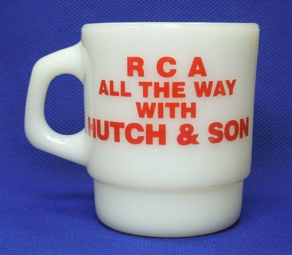 美品 ファイヤーキング ハッチアンドサン スタッキング アドマグ / Fire-King R C A  ALL THE WAY HUTCH & SON_画像3