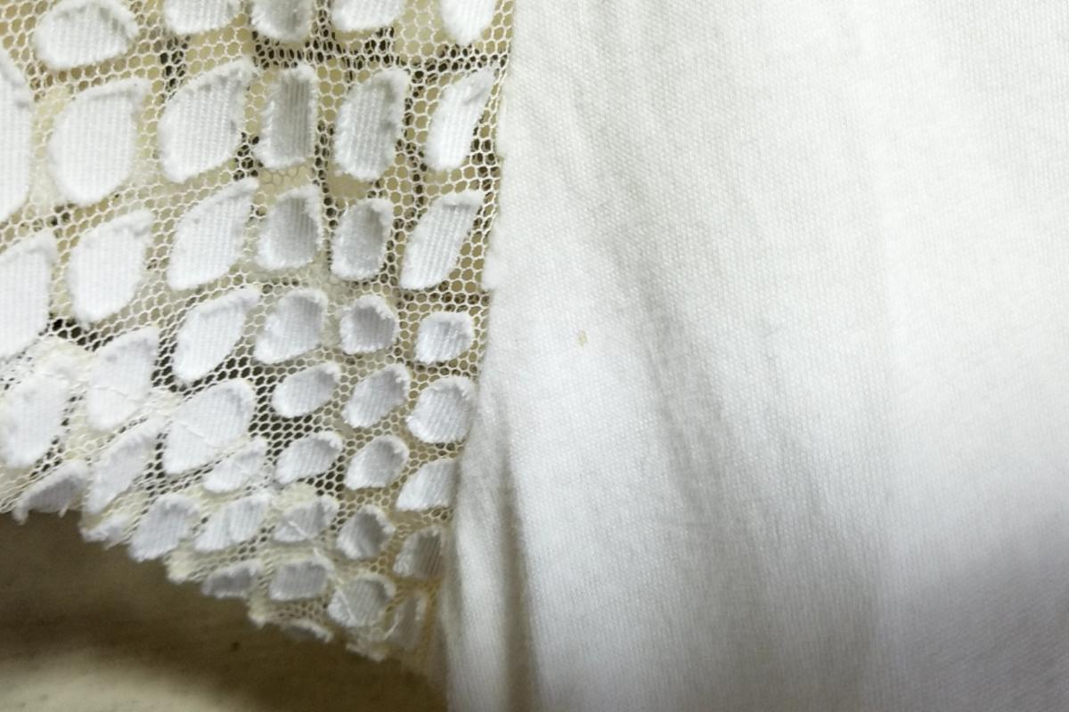 307◆【送料無料】日本製 ミハラヤスヒロ MIHARAYASUHIRO 半袖Tシャツ 36 白 ホワイト カットソー コットン 古着 中古 USED FrogShop