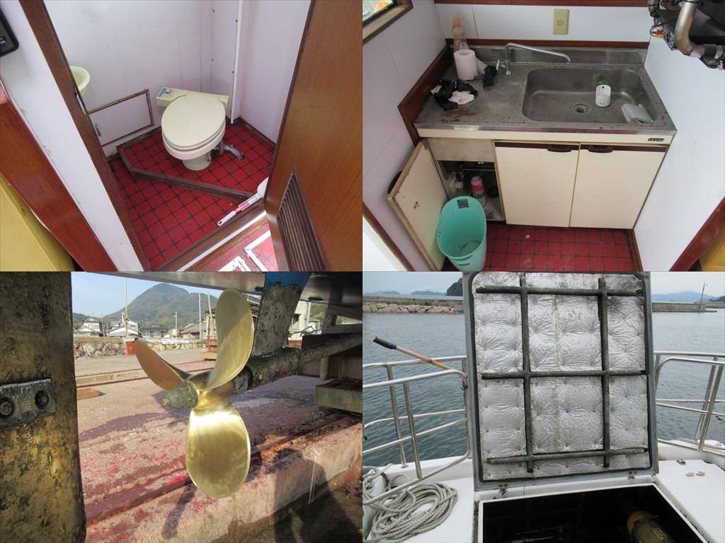 ヤンマー 40ft 別荘・小型観光船に ヤンマーの希少船 東京都_画像7